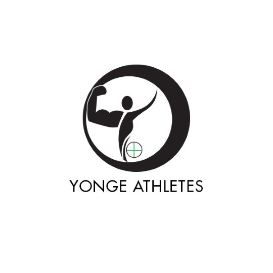 A logo of an athlete