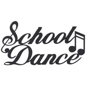 School dance with music note