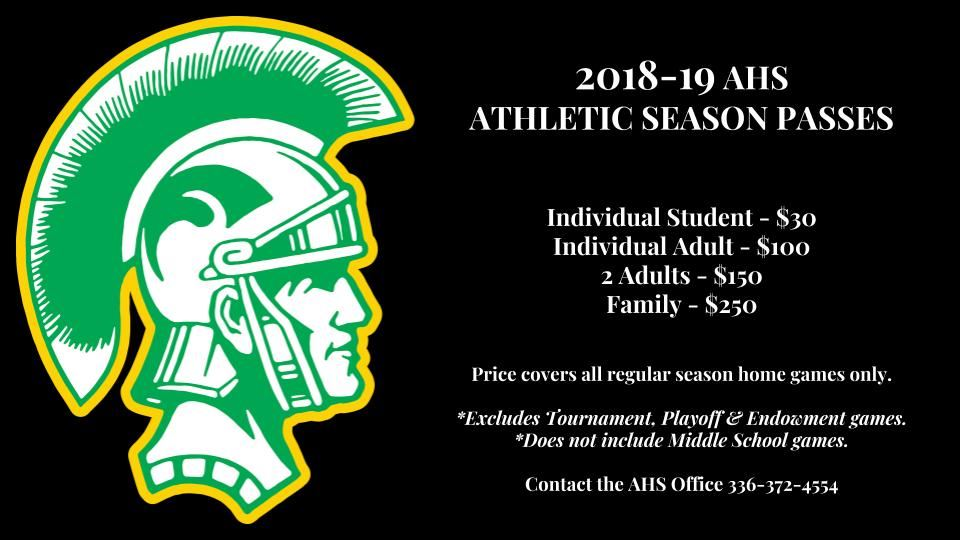 2018-19 Athletic Season Passes