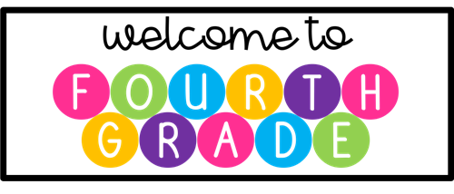 a banner with multicolored letters spelling out welcome to fourth grade