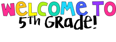 multicolored letters spelling out welcome to fifth grade