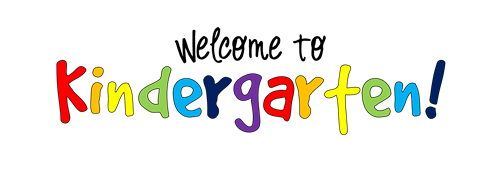 a image that says welcome to kindergarten in multiple colors