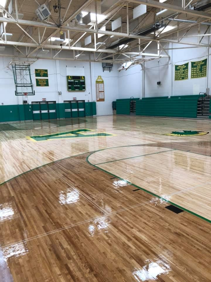 New Gym Floor at AHS