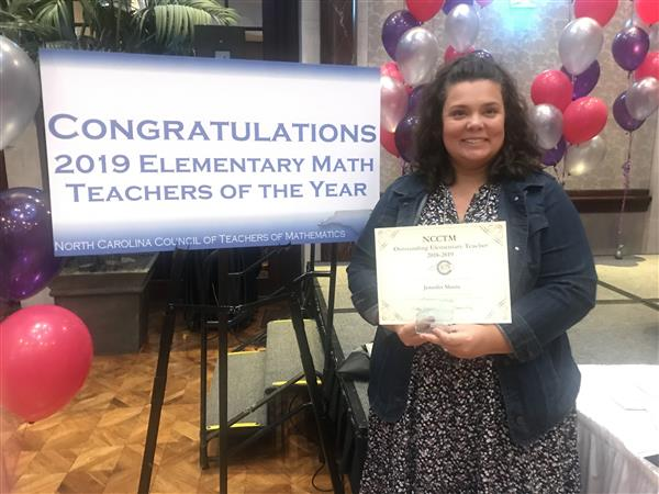 Jennifer Sheets, Alleghany County Schools Math Teacher of the Year