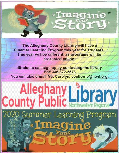 Alleghany County Public Library 2020 Summer Learning Program