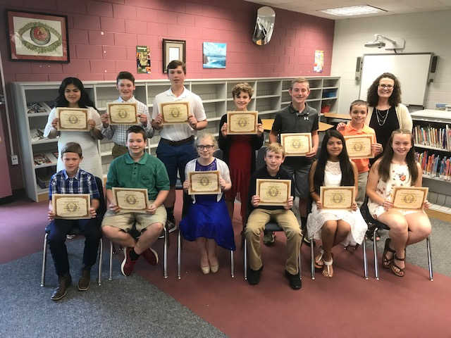 Congratulations to Our New Junior Beta Club Inductees!