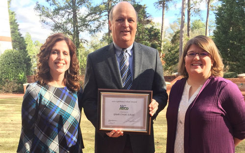 Glade Creek School  Receives Lighthouse School Award